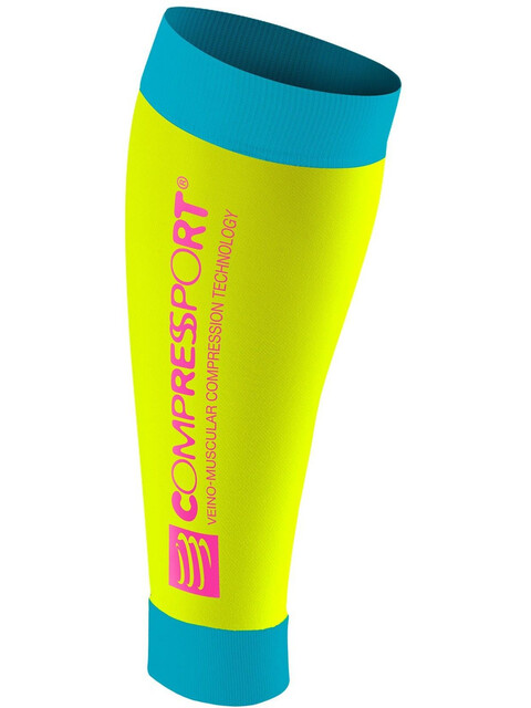 Compressport R2 Calf Sleeves Fluo Yellow